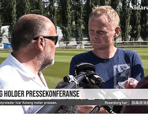 Ole K. Sagbakken intervjuer styrelder Ivar Koteng etter ar Eirik Horneland fikk sparken.