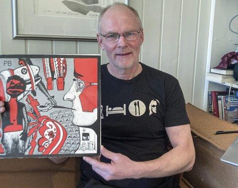 Kjøperen: Hans Gunnar Bruheim fikk tilslaget da LP-plata med musikk av Per Bergersen ble lagt ut på nettauksjon. – Jeg har ett eksemplar fra før - den nye skal være 60-årsgave til en nær venn, forteller han. Foto: privat