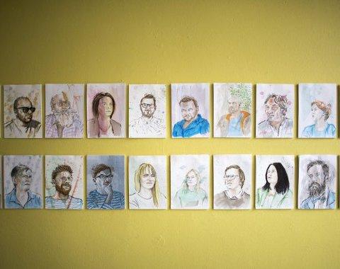 Veggene på Nobel Bopel vil være dekorert med portrettene til Håvard Legreid den kommende måneden.