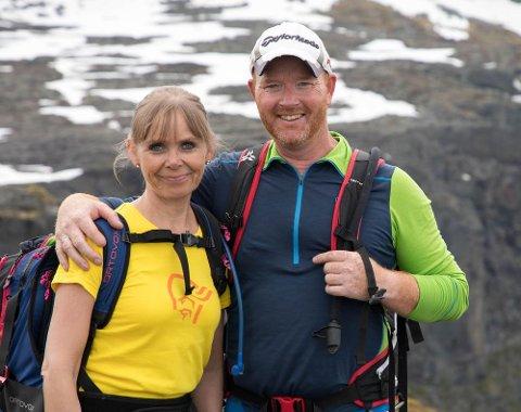 Ekteparet Jarle Hegerland (46) og Ann-Cathrin Losvik (48) omkom i helikopterulykken.