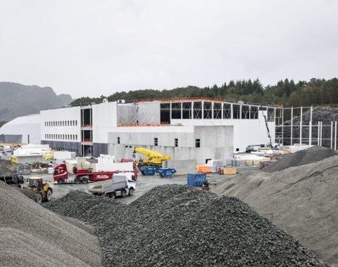 Vestlandshallen er stor, men det er så vidt den skimtes bak til venstre. Og ennå skal «Arena Nord» bli større ...
