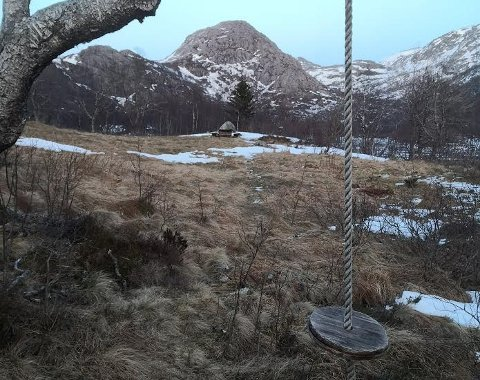 Her i Madlandsheia ønsker Gjesdal kommune å plassere en såkalt dagsturhytte.
