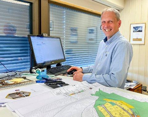 BLID: En god dag på jobben for selger Tore Fløiten hos Nordbohus etter at det var veldig bra interesse for tomtene i Solbakken feltet.