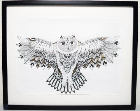 UGLE: Kunstverket «Owl» er lagd av Ane Martinsen fra Jevnaker. Hun er en av de to deltagerne fra Hadeland som UKM Oppland ønsker å sende videre.