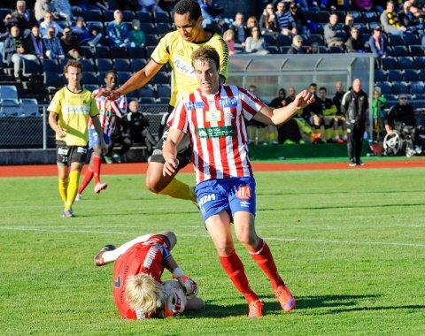 Björn Berglund scoret begge målene for Kvik.