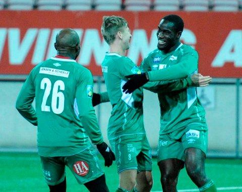 PRØVESPILLER: Samuel Narh scoret mot FFK, men det er fortsatt uvisst om han blir Kvik Halden-spiller på permanent basis.