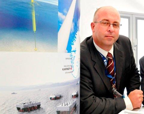 JOBBER FOR MER AKTIVITET: Daglig leder Arvid Nesse i Marin Energi Testsenter AS (METcentre) på Avaldsnes.