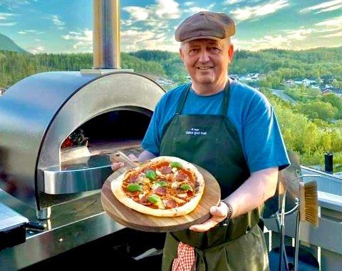 Geir Hartz Jørgensen har en lidenskap for mat og spesielt pizza: – Pizza er ikke brød med gryterett. Less is more.
