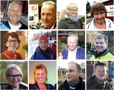 NOMINERTE: Disse 12 er nominert til årets ildsjel for 2017.