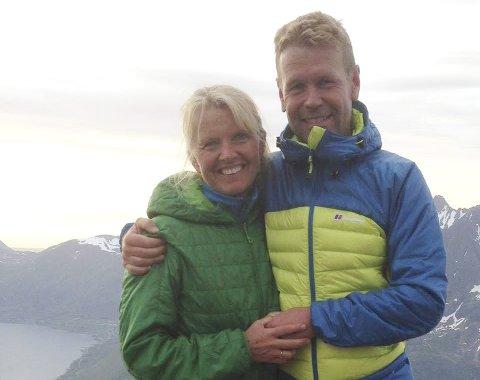 Turkamerater: Stein Alsos og kona Gry Falch-Olsen går mye turer sammen.  Foto: Privat