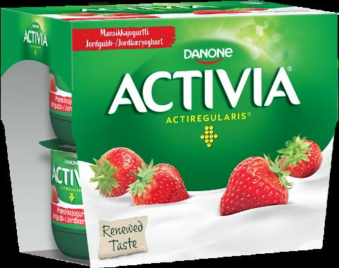 Danone Activia jordbæryoghurt: Har du denne yoghurten i kjøleskapet bør du ta en titt på utløpsdatoen.