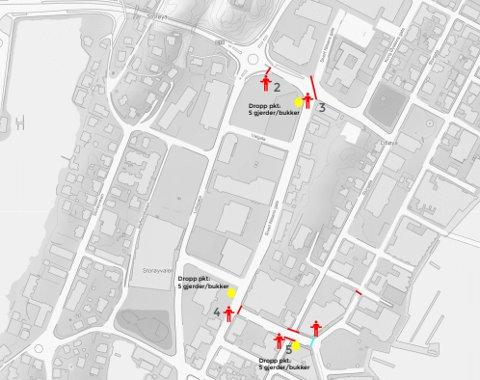 Sivert Nilsens Gate og Håkon Kyllingmarks Gate blir stengt i forbindelse med triatlon-konkurransene fredag 20. august og lørdag 21. august.