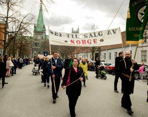Slik så 1. mai-markeringen ut i Trondheim i 2015.