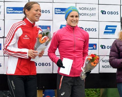 VANT IGJEN: Heidi Phalo forsvarte førsteplassen fra i fjor. Her med Jessica Gunnarson. FOTO: SOLFRID THERESE NORDBAKK