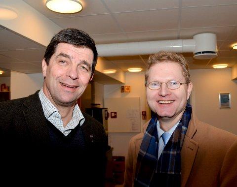 BEKYMRET: Stortingsrepresentantene Gunnar A. Gundersen (t.v.) fra Høyre og Tor André Johnsen fra Frp er bekymret for at EU kan komme til å redusere skogens betydning i klimaregnskapet. (Foto: Bjørn-Frode Løvlund)