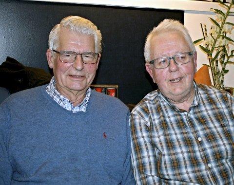 STÅR PÅ FOR LOKALSAMFUNNET: Jon Haffner og Vidar Karlsen er begge aktive i Føynland Vel, Karlsen som leder.
