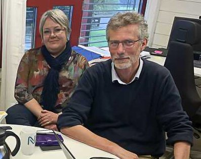 VARSLET OPPSTART: Imi Vegge og Morten Lossius fra Nye Veier har varslet oppstart av detaljregulering av strekningen Prestås - Kjørholt.
