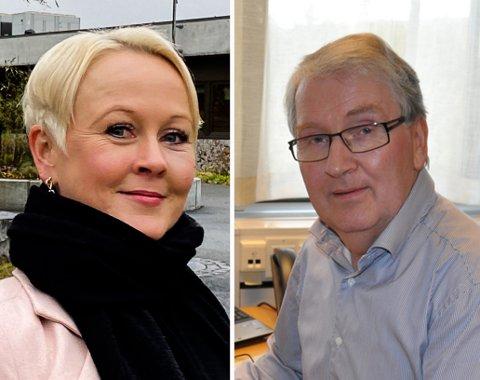 KORONA-HJELP: Kommuneoverlege Marthe Bergli i Jevnaker får bistand av  sin kollega Are Løken i Gran.