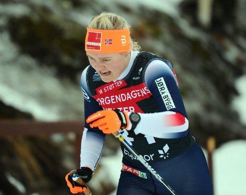 LITE TILFREDS: Vilde Flatland reagerer på at arrangørene i tolvte time valgte å endre på øvelsesprogrammet i ski-NM.