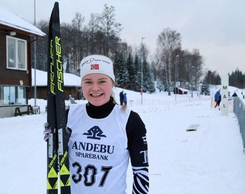 """KRETSMESTER: Vera Kristine Flatland vant klassen """"kvinner 19/20"""" på distansen 10 km. Dette bildet er fra et tidligere renn."""
