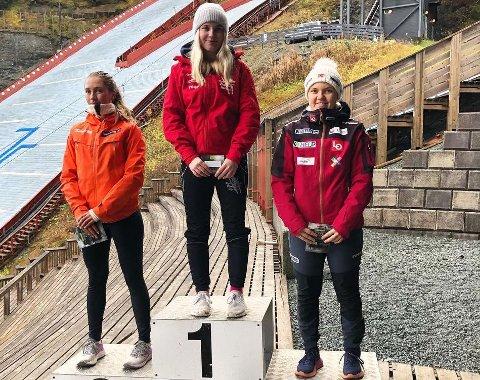 VANT: Frida Berger (16) fra Bødalen vant for Røykenhopp i norgescupen i Granåsen helgen som var.