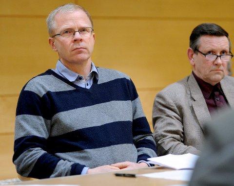 RETNINGSSKIFTE: Ståle Solberg (t.v.) overtar som gruppeleder for Annar Hasle (t.h.). Og partiet skiftet side fra borgerlig til rødgrønn. Det har vært mye aktivitet internt i KrF etter valget. FOTO: Mats Duan