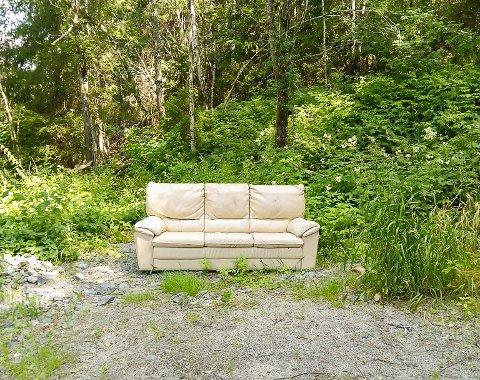 IKKE FØRSTE GANG: Else Olsen (77) fra Tomter forteller at det flere ganger har dukket opp møbler ved Foss bru .