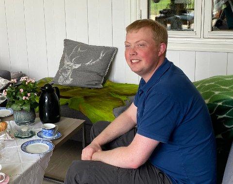 STILTE SPØRSMÅL: Viktor Yttri, leiar i Lærdal Senterparti, stilte spørsmål kring val av styre til Lærdal Energi.