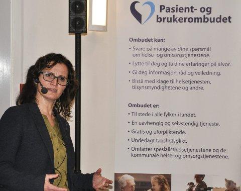 HELT UAVHENGIGE: – I Telemark er vi fire som jobber hos pasient- og brukerombudet, og vi har en helt selvstendig rolle. Vi har ikke myndighet til å slå i bordet, slik Fylkeslegen kan, men vi har til gode å ikke blitt tatt på alvor, fortalte Else Jorunn Saga.