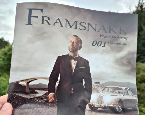 Håvard Bringsli pryder forsiden på magasinet Framsnakk, som dukket opp i postkassene til alle averøyinger før helga. Det er Luxe Foto – Fotograf André T. Ormset som har laget forsidebildet.