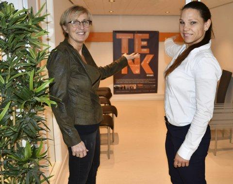 Tenker fremover og videre: Positivitet, energi, arbeidslyst og gode idéer er naturlige ingredienser i Anny Grehte Hauge og Janne Grandalens arbeidshverdag. Foto: Anne Dehli