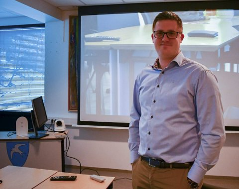 «TV-sjef»: Elias Lien har ansvaret for web-tv i Tvedestrand kommune. Arkivfoto