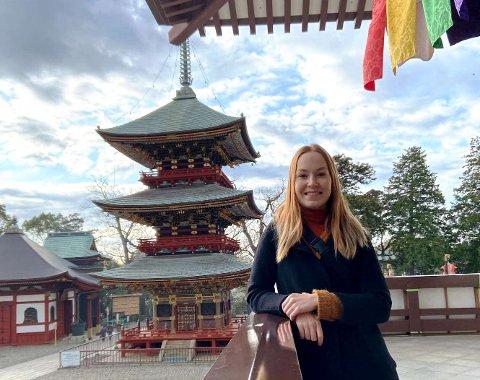 Helle Swahn Gundersten bodde og studerte i Japan i et halvt år. Resten av bachelorstudiet har hun tatt i Oslo.