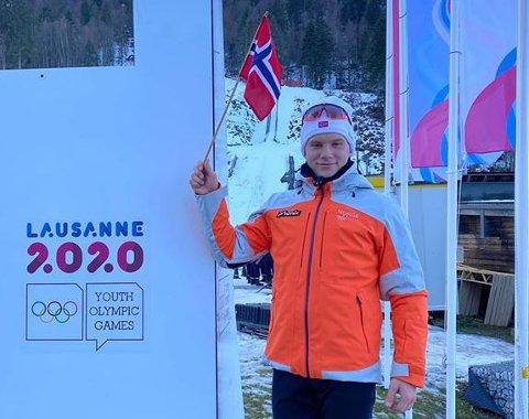 Ungdoms-OL: Vegard Thon ble nummer 9 under 12,5 km skiskyting lørdag.