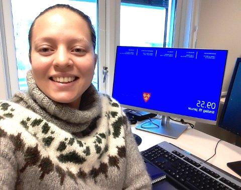 Charlotte Bellefine Lindeløff startet i ny jobb i Vestby i 2021. Nå er hun på plass på kontoret i Speiderveien.