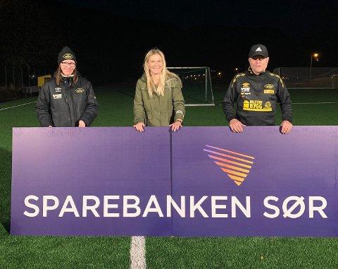 NY BANE: Hovsherad IL har Sparebanken Sør også fått mulighet til å være med å realisere ny kunstgressbane på Hovsherad, med en gave på 100.000
