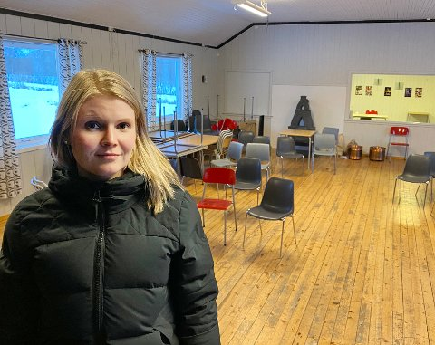 Utfordringer: Ungdomslaget Vestfjord, som Stina Bakken er leder for, sliter med å skaffe penger til driften av ungdomshuset som laget eier og driver. Nå har saken havnet på Stortinget.