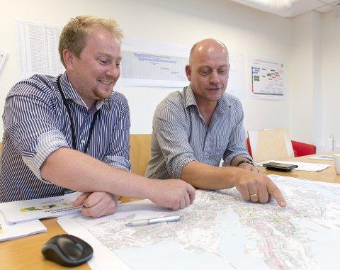 Plan: Mjøs og Andersen forteller at det er et puslespill, der detaljene kan være avgjørende for en god gjennomføring.