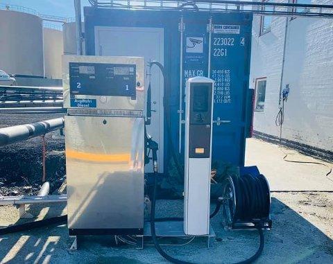FOR DE SMÅ: Den nye pumpen ved Nordkappterminalen ved Kobbhola står nå klar.