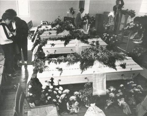 Tapet av dei fire unge gutane den skjebnesvangre septemberdagen i 1986 står framleis som eit traume i Svelgen si historie. Alle foto frå Firdaposten sitt arkiv