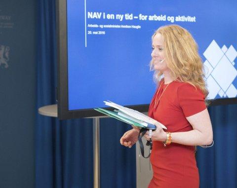 NAV-SKANDALEN: Kanskje arbeids- og sosialminister Anniken Haugli snart må oppsøke Nav?FOTO: Jan Richard Kjelstrup (CC BY2.0)