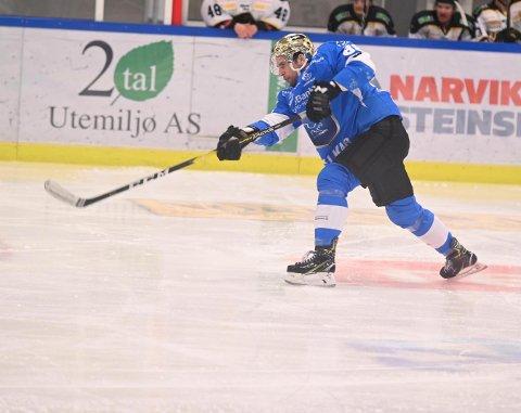 KOMMER IKKE TILBAKE: Wade Murphy skal være uaktuell for Narvik Hockey.