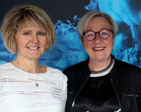 Seksjonsleder folkehelse Kari Hege Mortensen og fylkesråd Kirsti Saxi (SV).