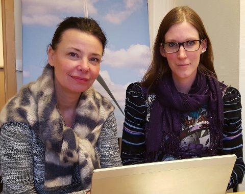 SVARTE GLÅMDALENS LESERE: Camilla Rasmusson, projektleder (t.h.), og Anette Blücher, sjef for prosjektutvikling av vindkraft på land i Sverige og Norge.