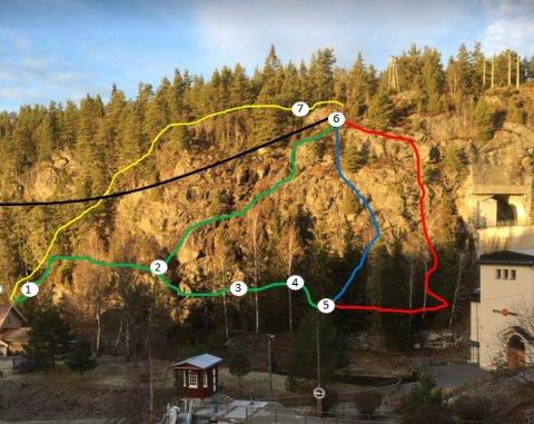 LUFTIG SATSING: Sammen med Klatring på Grensen ønsker Regionalpark Haldenkanalen å lage klatrestier med en avsluttende zipline i området rundt Brekke sluser.