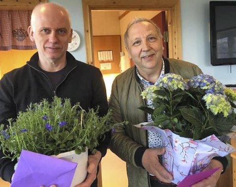 COMEBACK: John Arne Andersen (57) er tilbake som rådmann i Vevelstad. Signar Kristoffersen (t.h.) skal hjelpe ham i gang.