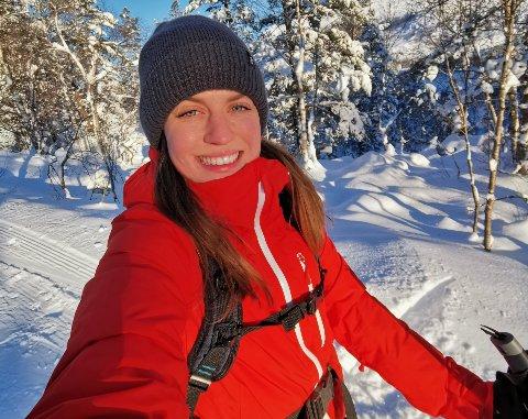 Karen Kvamen trives i naturen.
