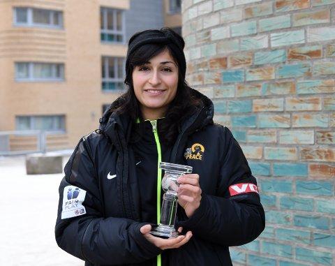 GJORT SEG BEMERKET: Fatemeh Zangeneh ble nylig kåret til årets dommer i Toppserien.