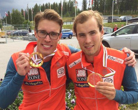 Even Sætheren Hippe og Ragnar Bragvin Andresen (t.v.). Foto: Norges Skiforbund