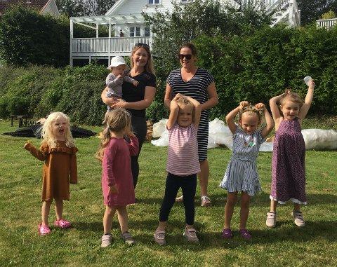 Her er dugnaden i full gang, og ungene i nabolaget er selvfølgelig også med når initiativtagere Susanne Martsander og Tonje Thon steller istand.